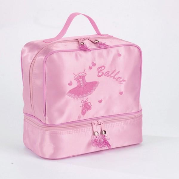 Детская двухэтажная сумка Katz с балетной вышивкой